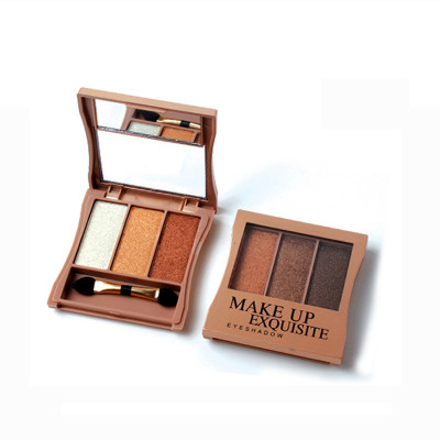 3 colors Highly pigment eyeshadow palette Private label ES0120