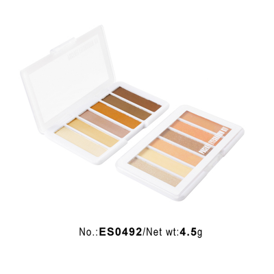 Cheap shimmer eyeshadow palette 6 colours private label ES0492