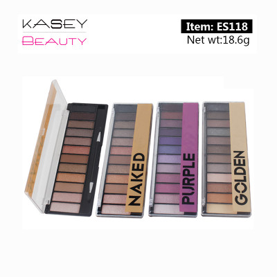 China Customized OEM private label eyeshadow Factory 12 colors glitter palette ES118