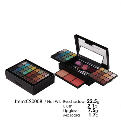 Private label makeup set (include eyeshadow, blusher,compact powder)