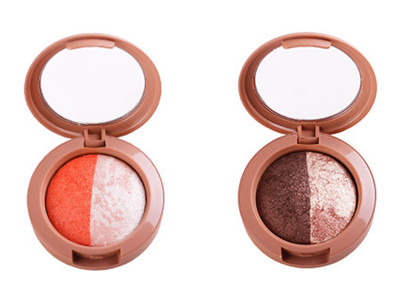 Best selling 2 colors baked eyeshadow individual highly pigment BS002