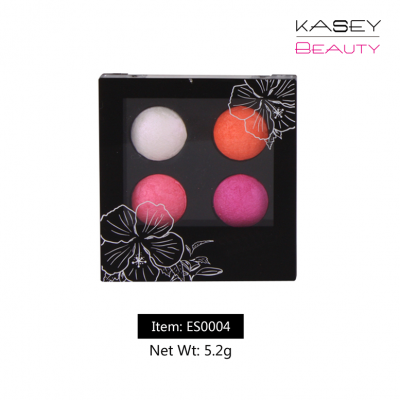 Wholesale Eyeshadow Palette Proessional Makeup 4 colors customized ES0004