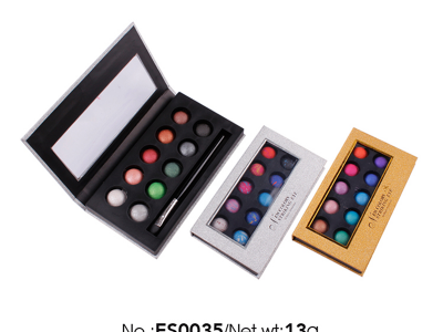 12 colors Wholesale Private Label Cosmetics baked eyeshadow palette highly pigment ES0035