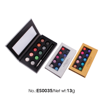 12 colors Wholesale Private Label Cosmetics baked eyeshadow palette highly pigment