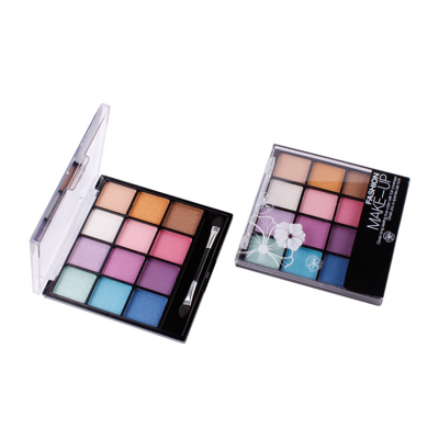 Affordable private label cosmetics 12 colors eyeshadow palette Cruelty free