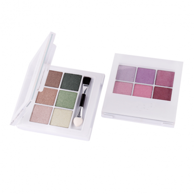 6 colors eyeshadow palette white label cosmetic business ES0043
