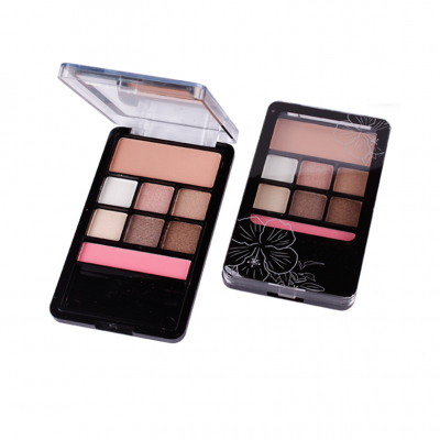 Private label 8 colors eyeshadow palette China cosmetics factory ES0058