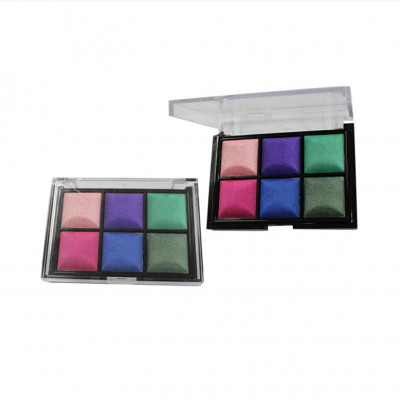 Luxury Private Label Cosmetics Manufacturer 6 colors eyeshadow palette high pigment ES0076