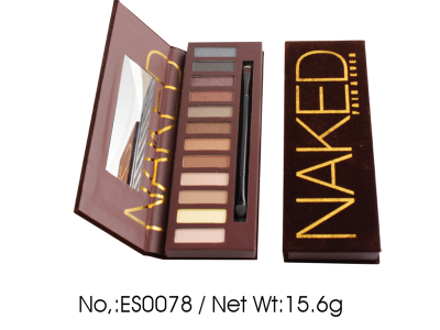 Luxury Private Label Cosmetics Manufacturer 12 colors Naked eyeshadow palette ES0078