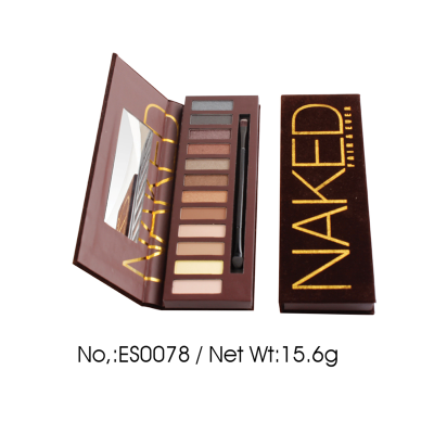 Luxury Private Label Cosmetics Manufacturer 12 colors Naked eyeshadow palette