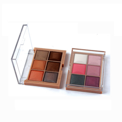 Wholesale Private Label Cosmetics 6 colors highly pigment eyeshadow palette ES0111