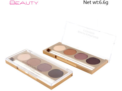 New wholesale private label makeup 4 colors eyeshadow palette matte ES0171