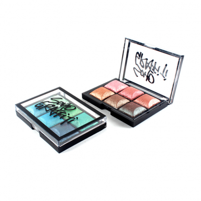 Private label cosmetics 6 colors eye palette with highlighter ES0173