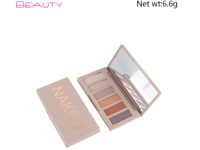 6 Colors Naked Eyeshadow Palette Private Label Highly Pigmented ES0186