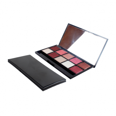 FDA approved New Design Custom Cosmetics 10 colors eyeshadow palette