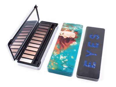 Custom Tin Box Eyeshadows Palette 12 colors private label ES0200