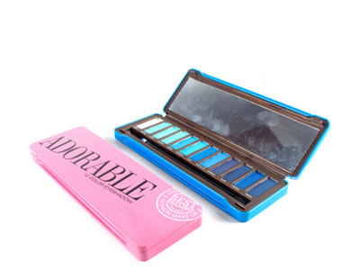 Tin box eyeshadow 12 colour cosmetics manufacturers in china
