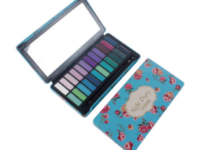 Wholesale cosmetics eyeshadow palette tin box 24 colors – ES0201-3