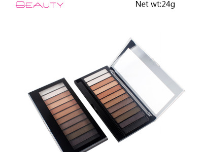 Custom your own brand 12 colors glitter eyeshadow palette ES0228