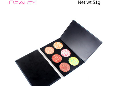 Private label cosmetics wholesale 6 colors face makeup palette ES0252