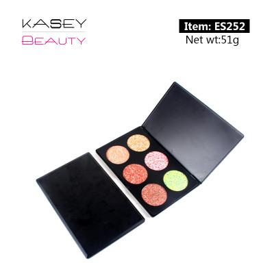 Private label cosmetics wholesale 6 colors face makeup palette ES0252
