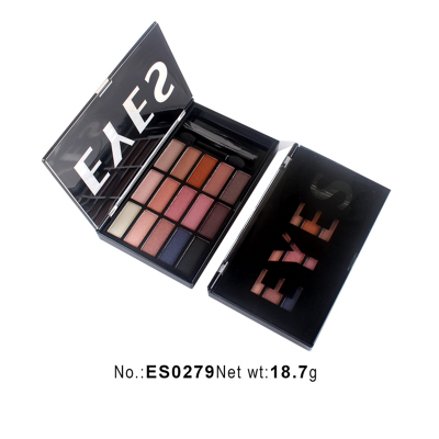 Private label cosmetics wholesale 15 colors eyeshadow palette ES0279