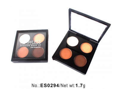 Flawless eyeshadow palette high pigment 4 colors private label ES0294