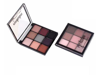 Custom soft & satin finish eyeshadow palette 9 colors ES0305
