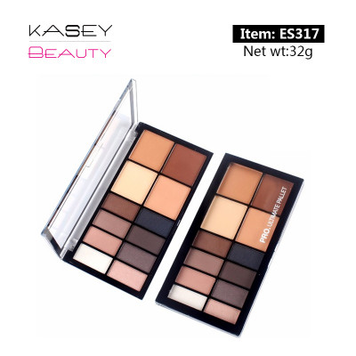 luxury private label cosmetics 12 colors eyeshadow palette high pigment ES0317