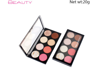 luxury private label Eye Shadow Palette  8 colors high pigment ES0318