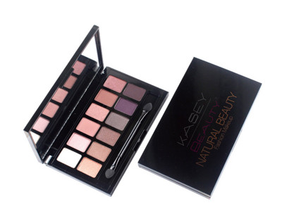 Private label eyeshadow palette packaging with 12 colors ES0330