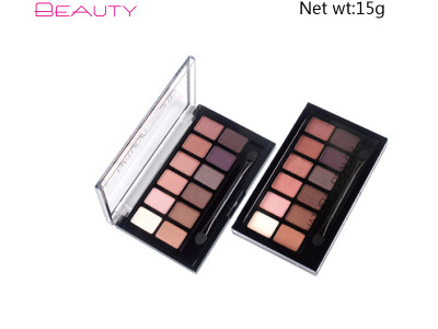 Private label vegan cosmetics eyeshadow palette 12 colours ES0331