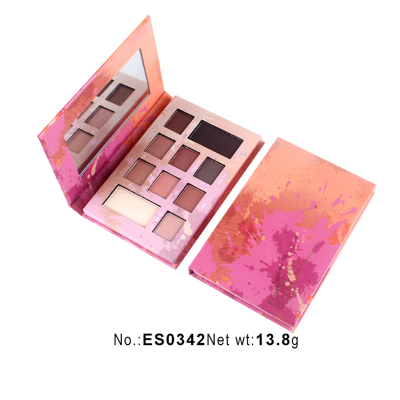 ES0342-10 colors paper eyeshadow palette private label