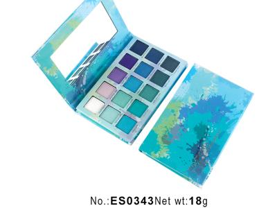 15 colors paper eyeshadow palette vegan private label cosmetics ES0343