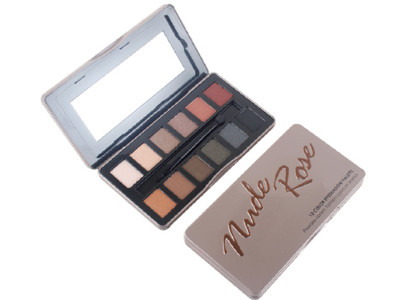 12 colors Nude Rose eyeshadow palette private label cosmetics wholesale