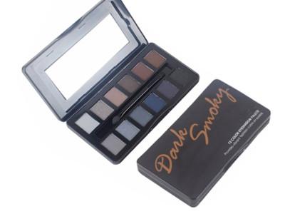 Dark smoky 12 colors Metal Tin Eye Shadow Palette Glitter-ES0352