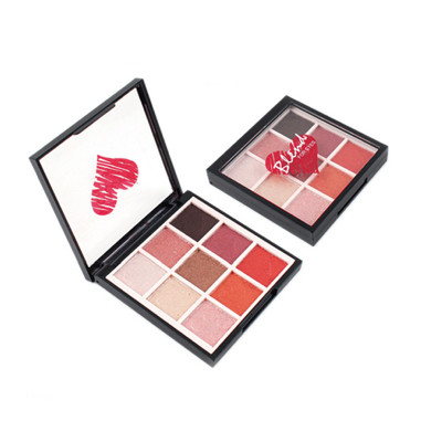 Private label 9 colors metallic eyeshadow palette ES0383