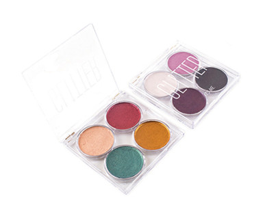 Private label glitter eyeshadow palette 4 colors ES0397