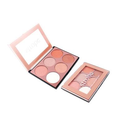 Custom 6 colors eyeshadow palette cosmetic manufacturers ES0407
