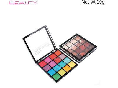 NYX 16 colors shimmer eyeshadow palette private label ES0409