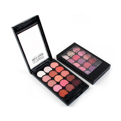 Private label 15 colors Glitter Eyeshadow Palette ES0412