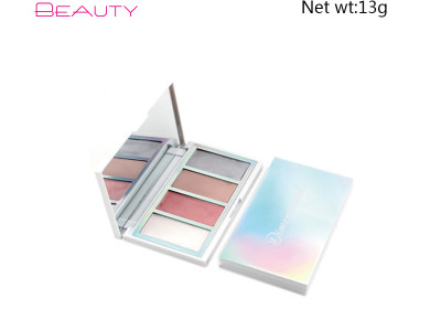 Private label cream eyeshadow palette 4 colors ES0418