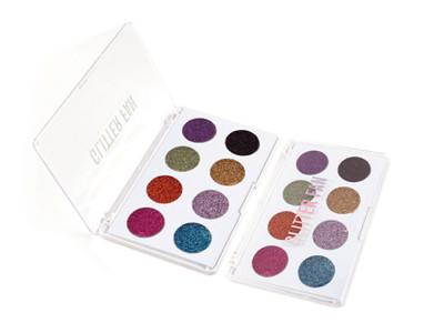 Private label 8 colors glitter paleta de sombras de ojos ES0427