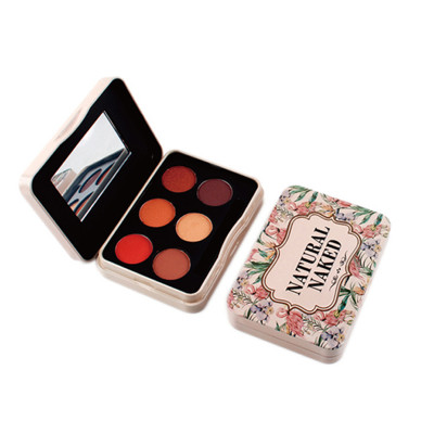 Best natural naked eyeshadow palette 6 colors private label ES0429