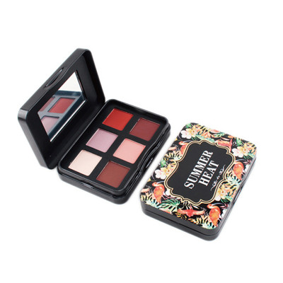 6 colors tin box eyeshadow palette high pigment private label ES0430