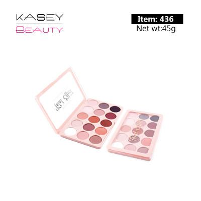 wholesale cosmetics 15 colors eyeshadow palette private label ES0436
