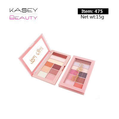 Private label 9 colors eyeshadow palette