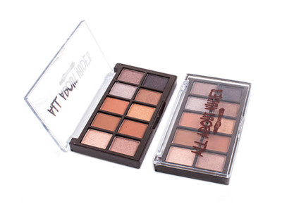 Private label cosmetics china 10 colors eyeshadow palette ES0478