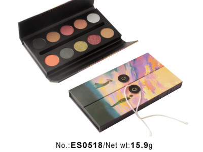 10 colors custom eyeshadow palette with pictures and names ES0518