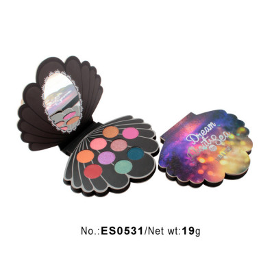 Private label glitter eyeshadow palette 9 colors paper packaging ES0531